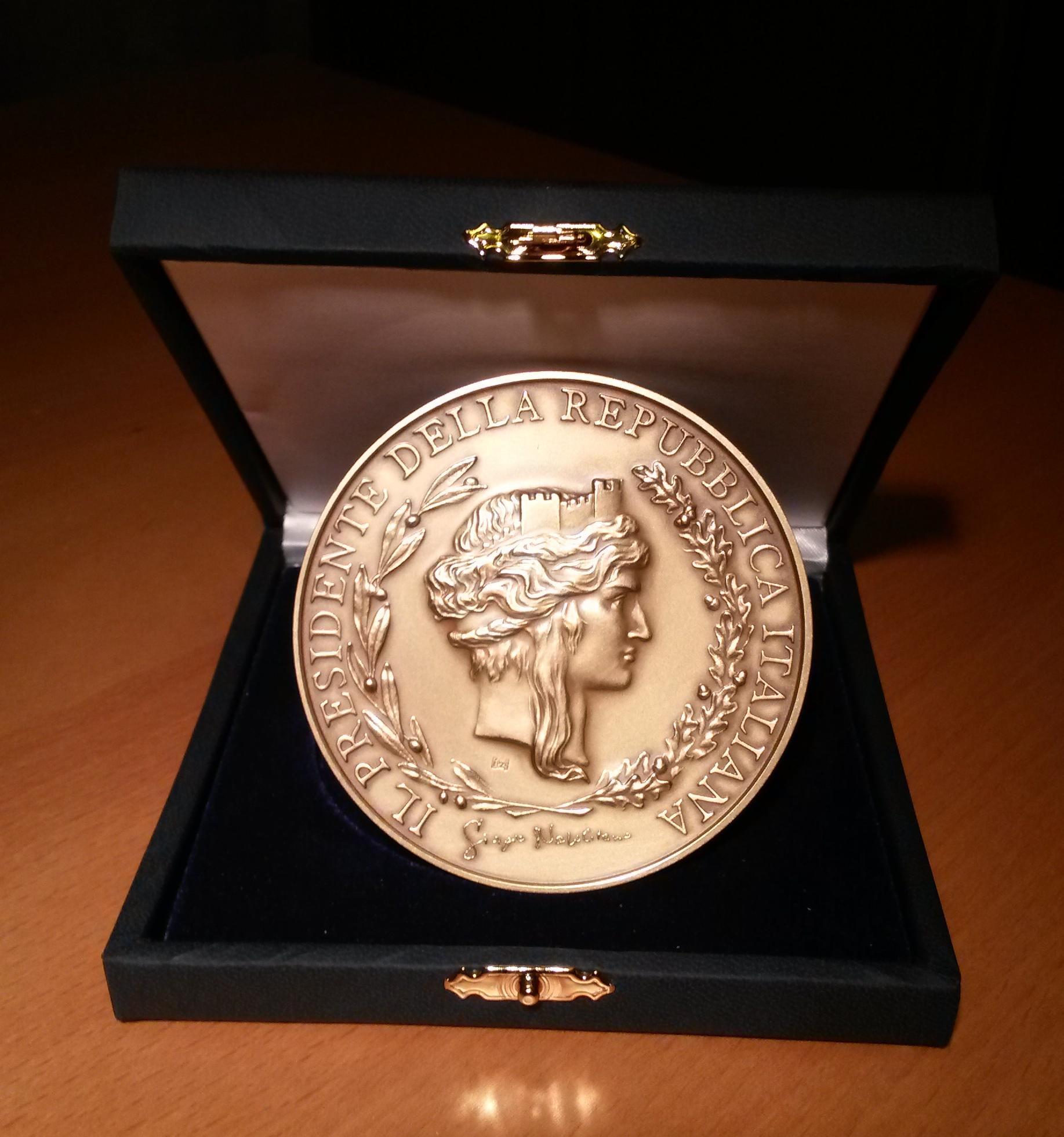 Medaglia Presidente della Repubblica Giorgio Napolitano